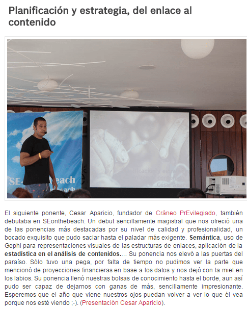 Crítica: http://www.enae.es/seonthebeach-2015-marketing-digital-en-murcia