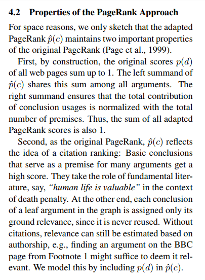 "Fragmento de ""PageRank"" for Argument Relevance, de Henning Wachsmuth, Benno Stein y Yamen Ajjour"