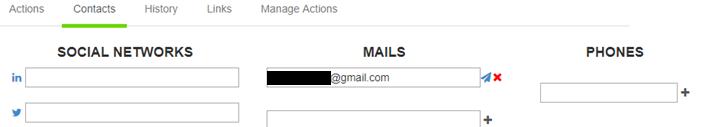 Añadir un email de contacto en FuSEOn Link Affinity