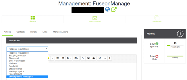 Management FuSEOn Link Affinity