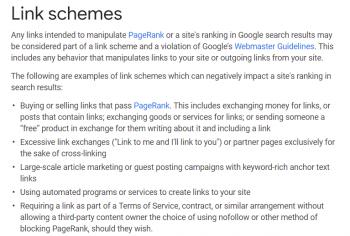 Google se pone serio con los enlaces no naturales